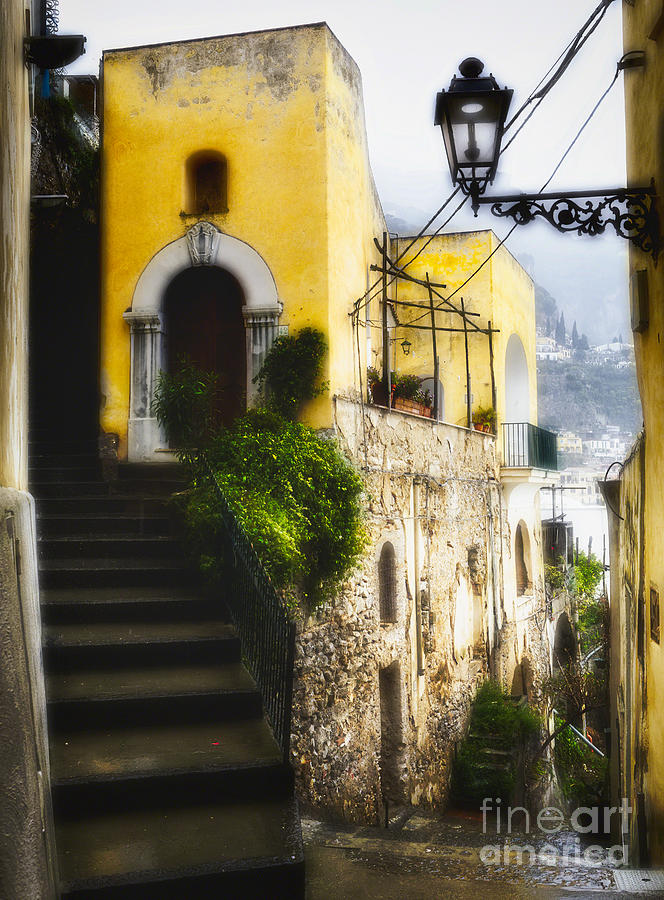 Old Street In Positano Photograph  - Old Street In Positano Fine Art Print
