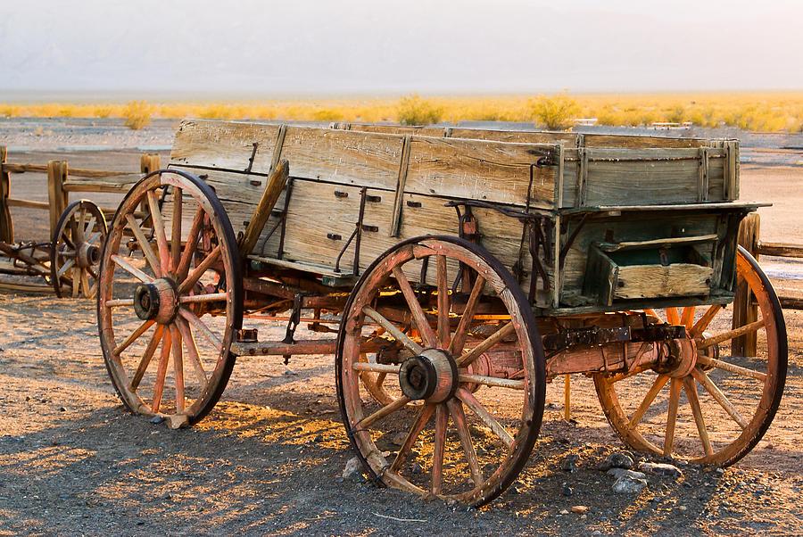 Wagon Wheel Photograph - Old Times  by Daniela Roberts
