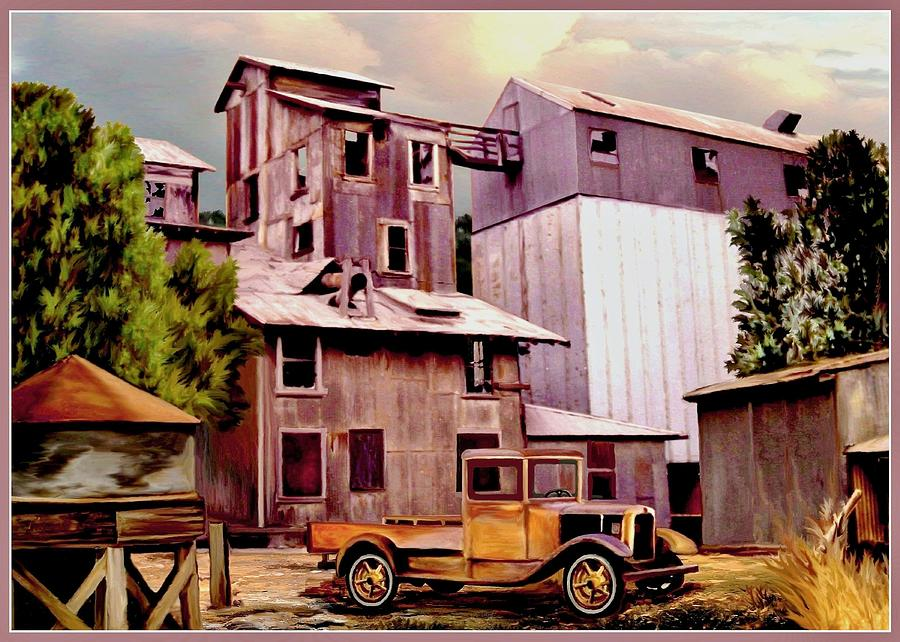 Old Town Granary Digital Art  - Old Town Granary Fine Art Print