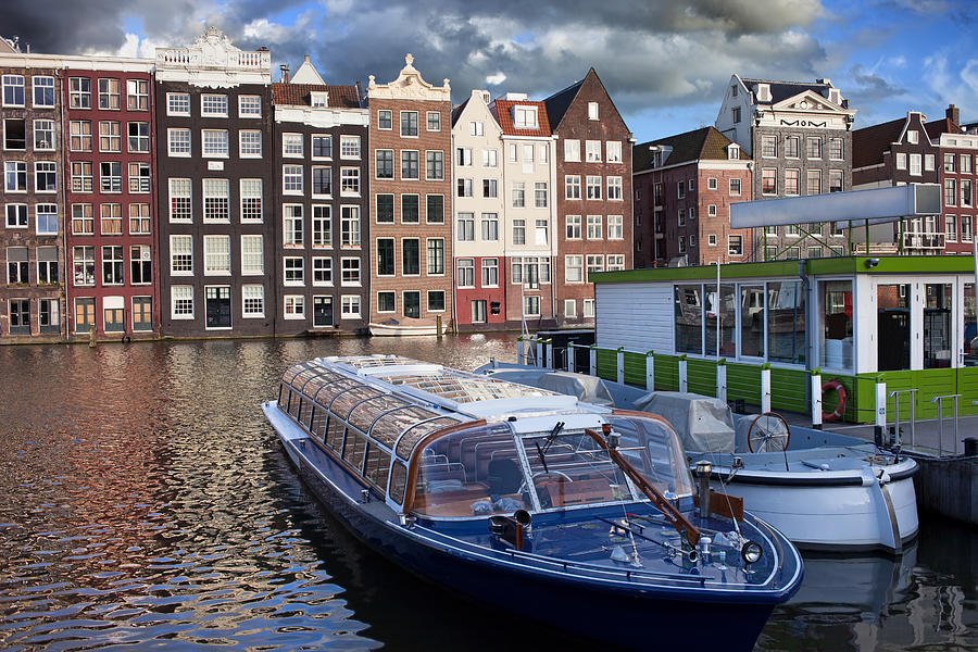 Old Town Of Amsterdam In Netherlands Photograph