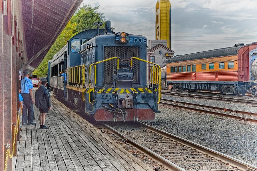 Old Town Sacramento Railroad Photograph