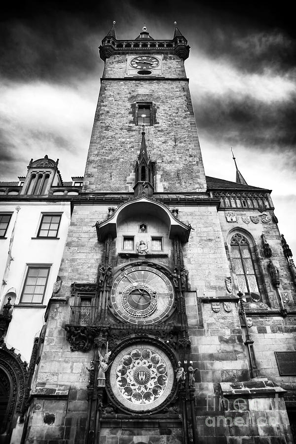 Old Town Square Clock Tower Photograph  - Old Town Square Clock Tower Fine Art Print