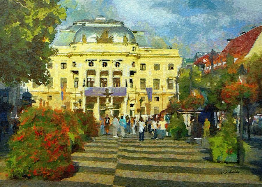 Old Town Square Painting