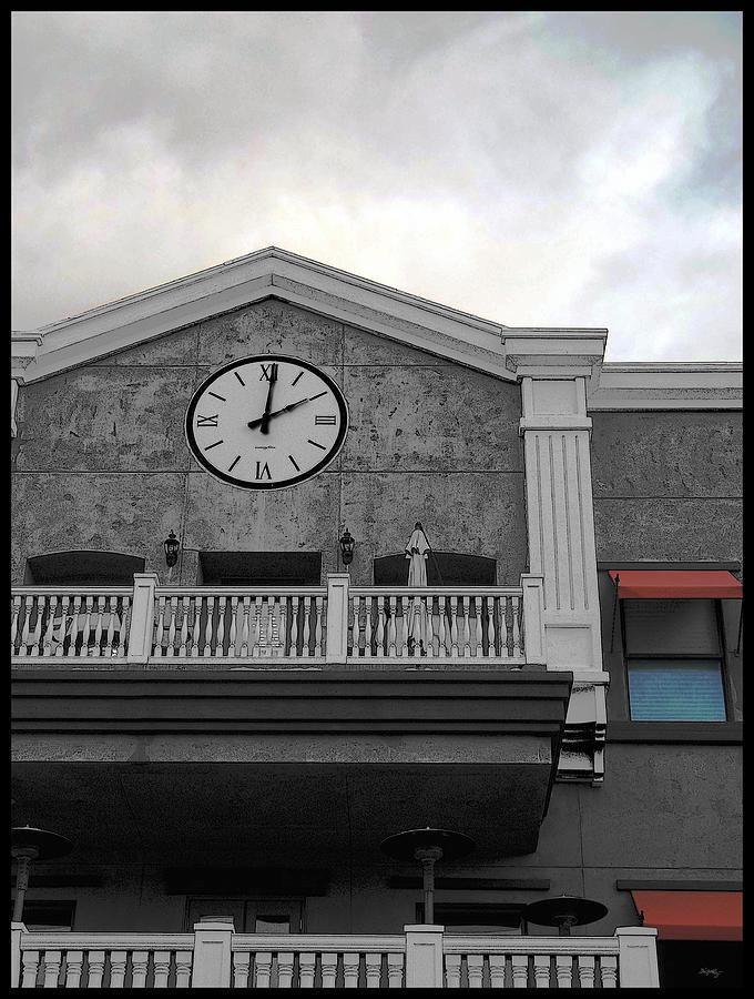 Old Town Temecula - The Clock Photograph  - Old Town Temecula - The Clock Fine Art Print
