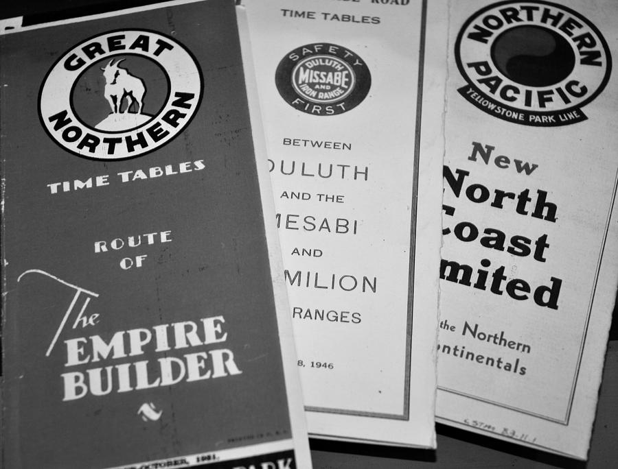 Old Train Brochures   Photograph