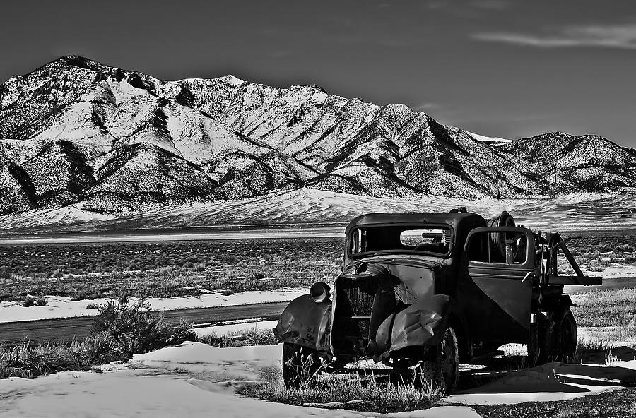 Black And White Photograph - Old Truck by Robert Bales