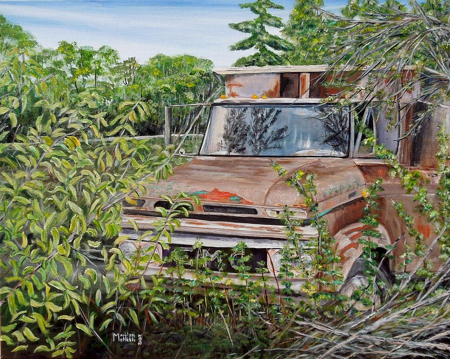 Old Truck Rusting Painting