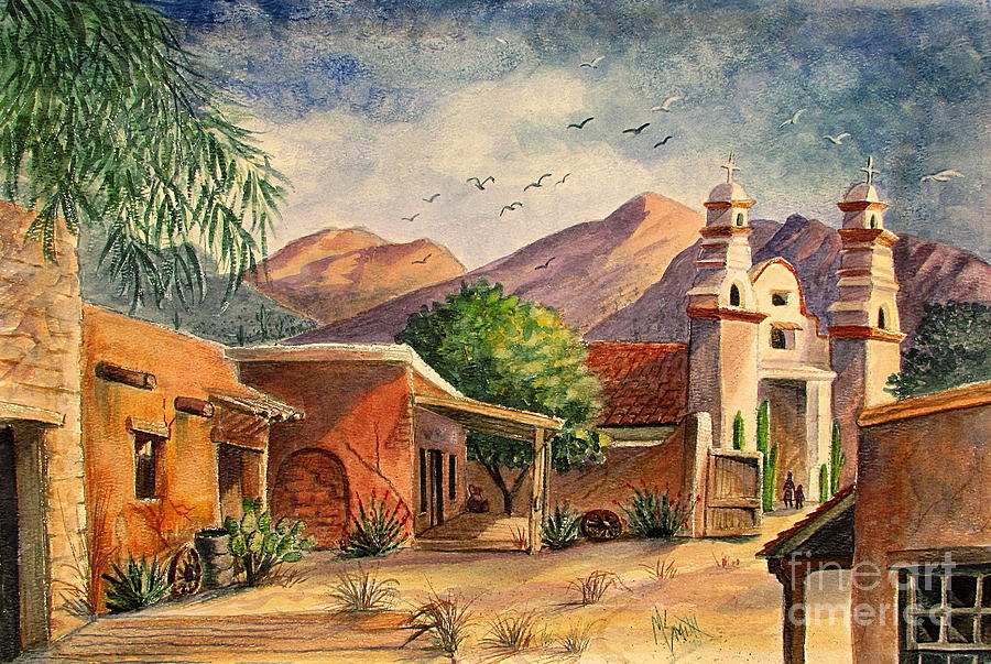 Old Tucson Painting
