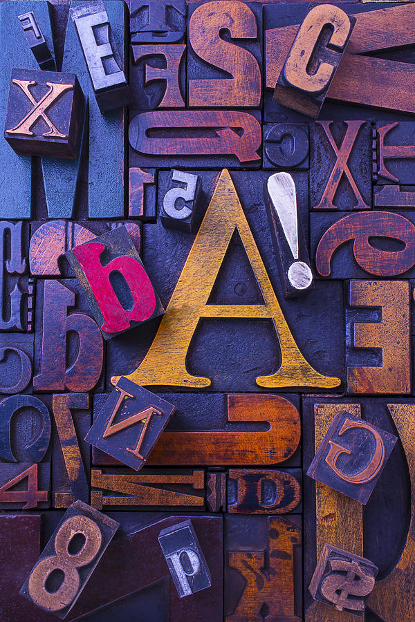 Old Typesetting Fonts Photograph
