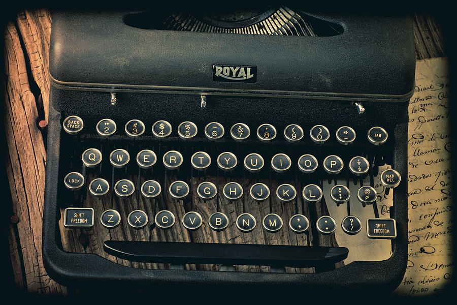 Old Typewriter Photograph - Old Typewriter With Letter by Garry Gay