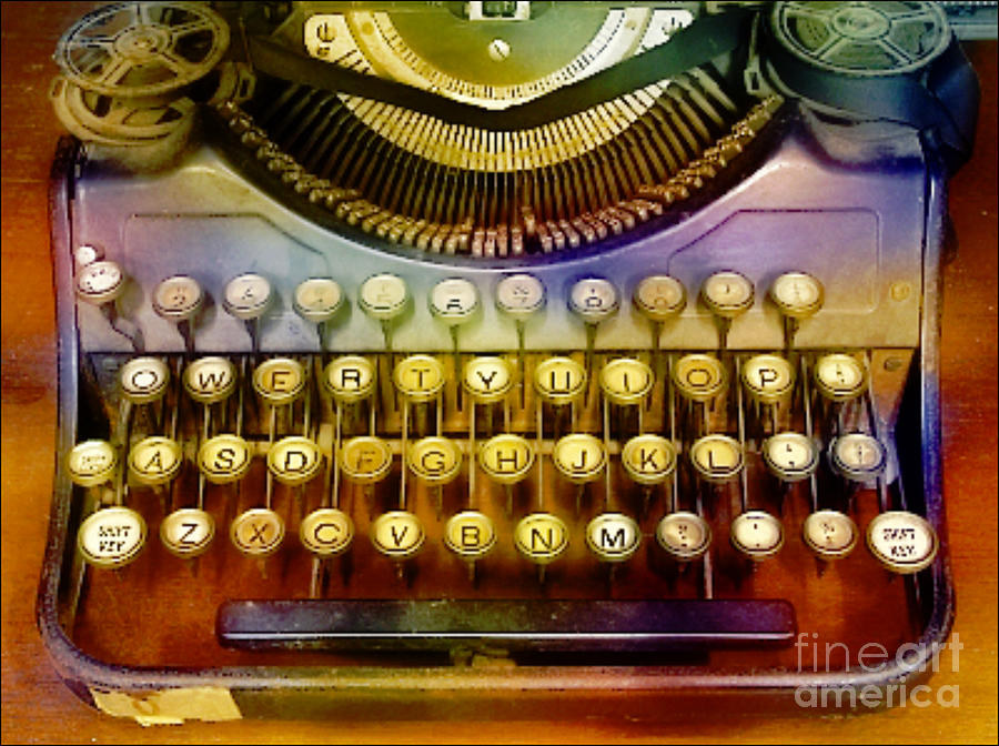 Old Typewrter Digital Art  - Old Typewrter Fine Art Print