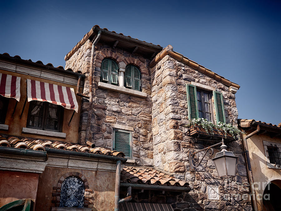 Old Venetian Style House With Stone Walls Photograph By