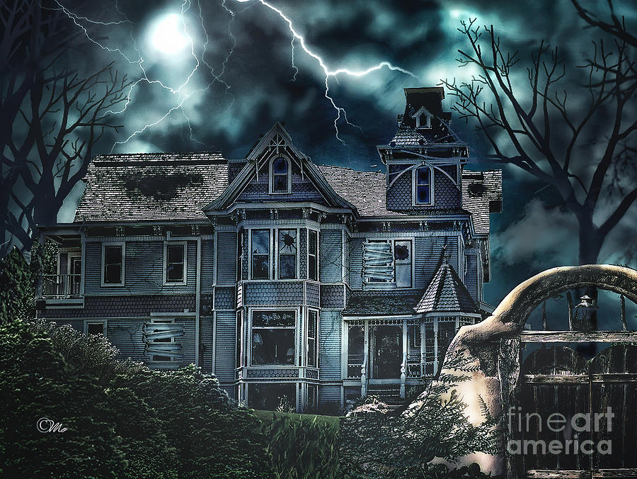 Old Victorian House Digital Art  - Old Victorian House Fine Art Print
