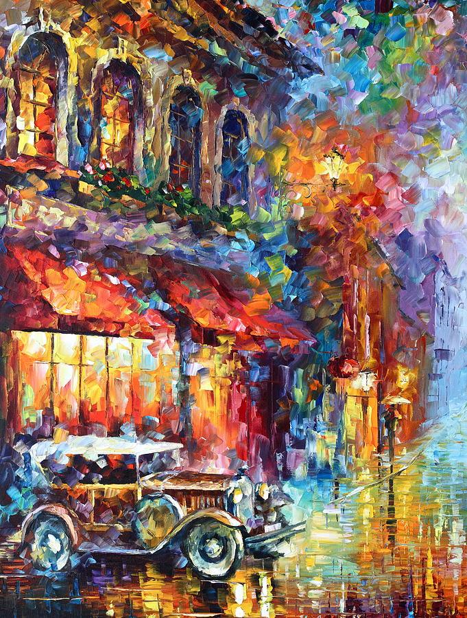 Afremov Painting - Old Vitebsk Part 1 - Left by Leonid Afremov