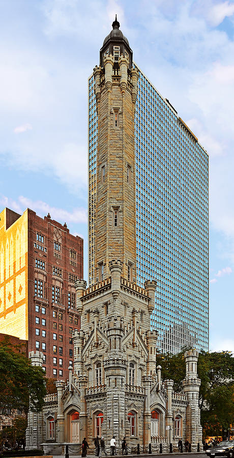 Old Water Tower Chicago Photograph  - Old Water Tower Chicago Fine Art Print