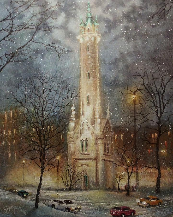 Old Water Tower Milwaukee Painting  - Old Water Tower Milwaukee Fine Art Print