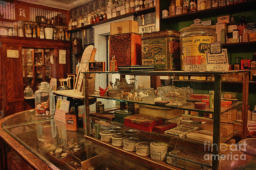 Old Western General Store Counter Photograph