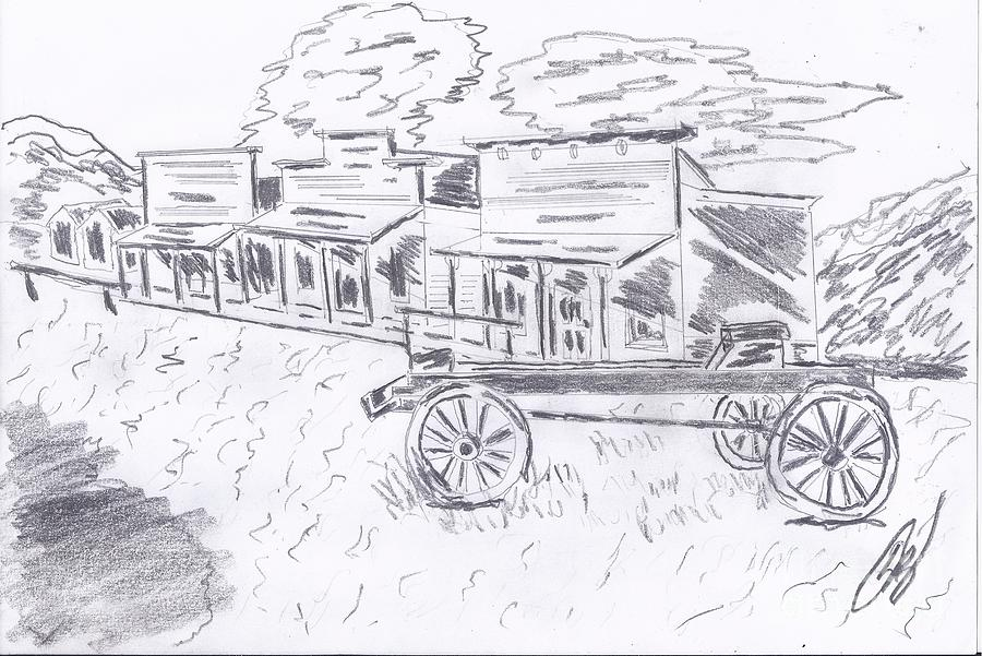 Old Western Ghost Town DrawingOld Western Town Drawing