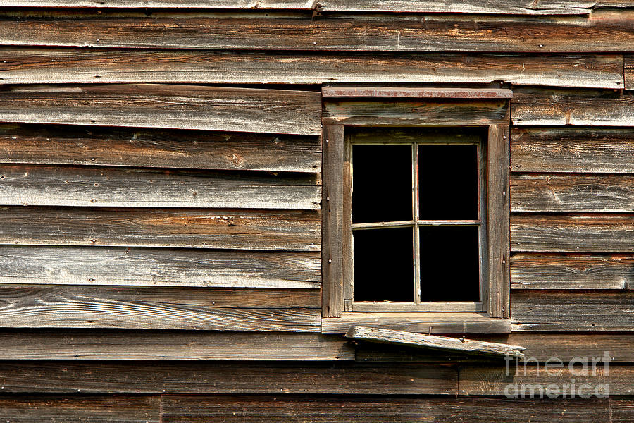 Old Window And Clapboard Photograph