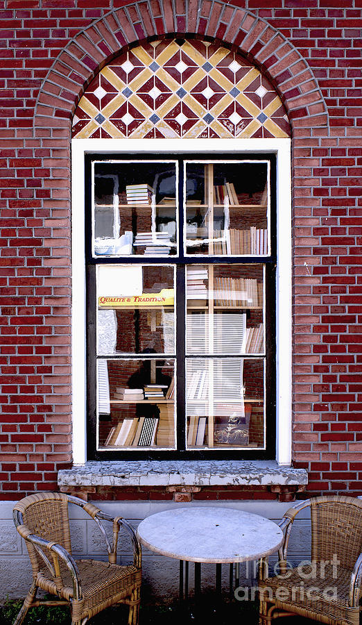 Old Window With Books Photograph