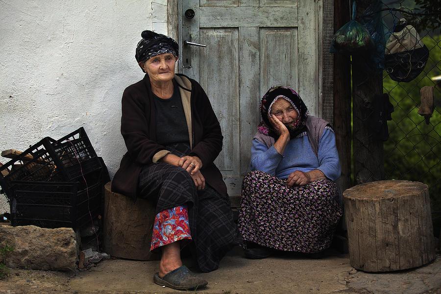 Old Women In Doorstep  Photograph