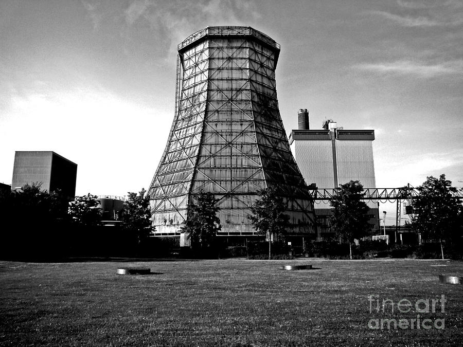 Old Wooden Cooling Tower Photograph