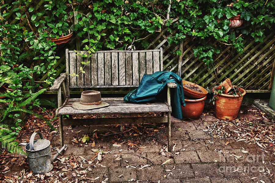 Wooden Bench Photograph - Old Wooden Garden Bench by Avalon Fine Art ...