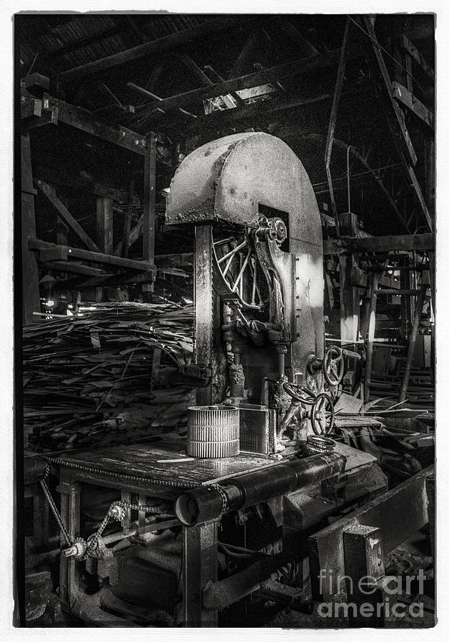 Old Wooden Sawmill Photograph  - Old Wooden Sawmill Fine Art Print