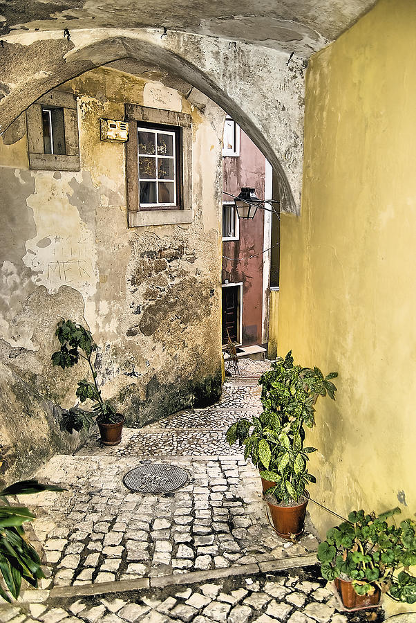 Old World Courtyard Of Europe Photograph  - Old World Courtyard Of Europe Fine Art Print