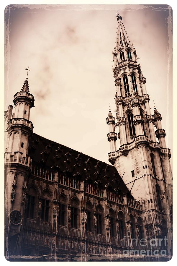 Brussels Photograph - Old World Grand Place by Carol Groenen