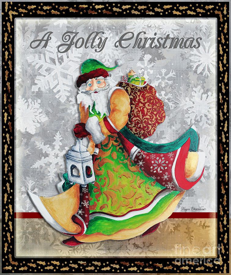 Christmas Painting - Old World Santa Clause Christmas Art Original Painting By Megan Duncanson by Megan Duncanson