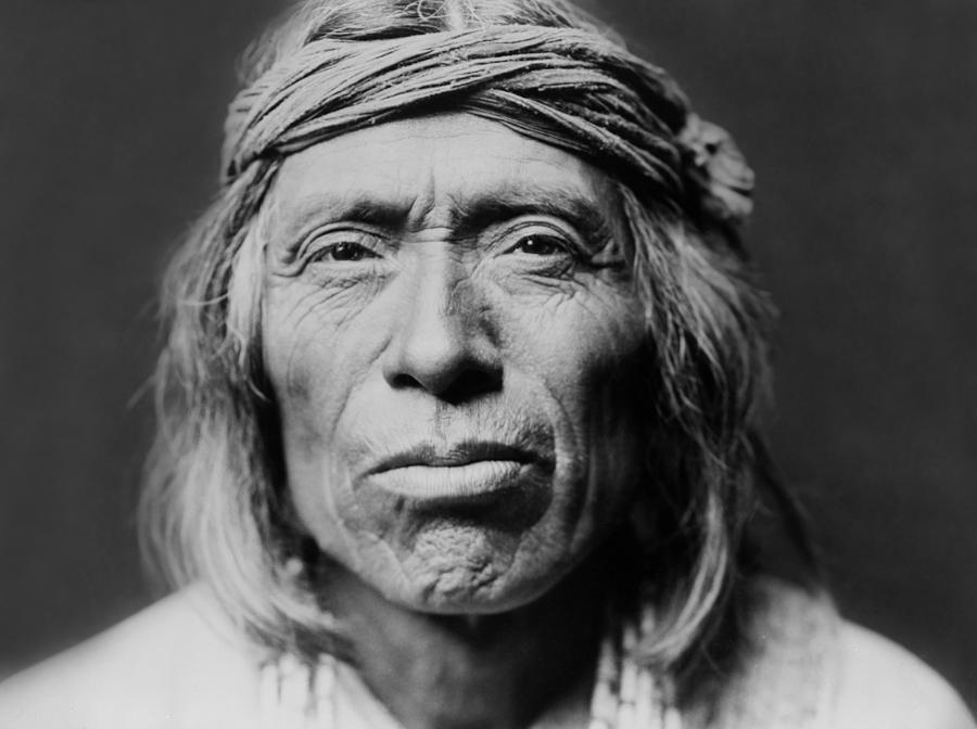 Old Zuni Man Circa 1903 Photograph