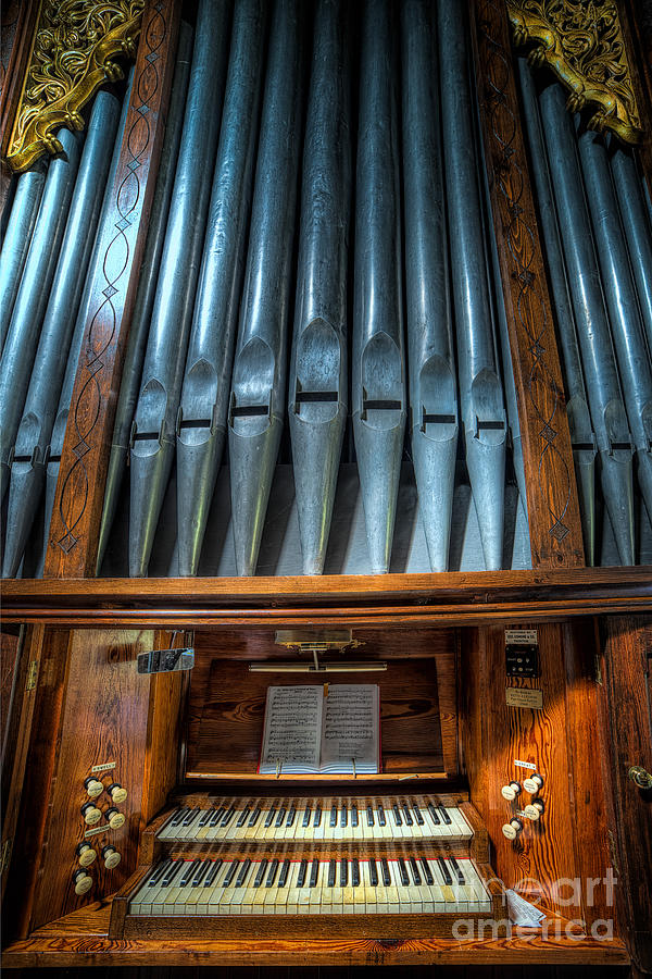 Olde Church Organ Photograph  - Olde Church Organ Fine Art Print