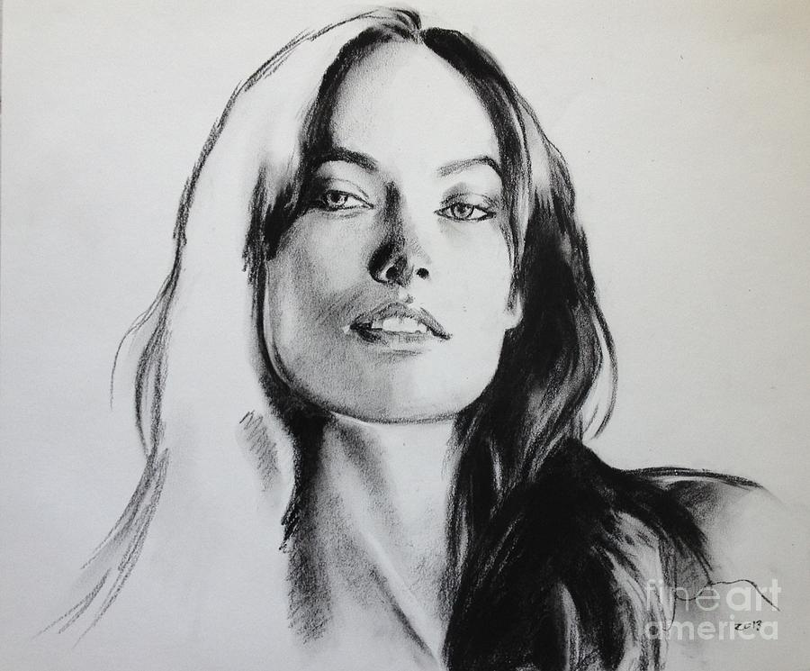 Tron Character Painting - Olivia Wilde by Miguel Lopez