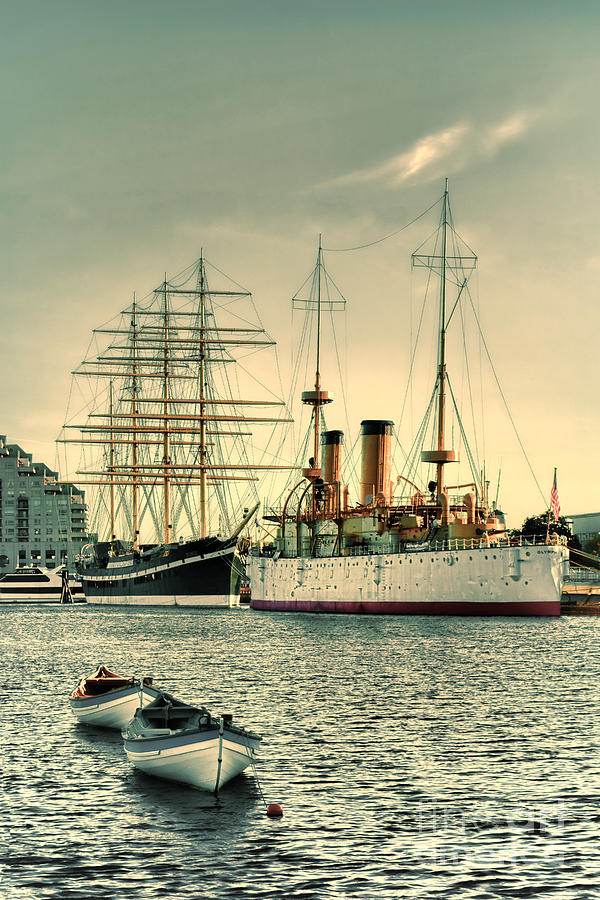 Penn's Landing Photograph - Olympia And Moshulu by Olivier Le Queinec