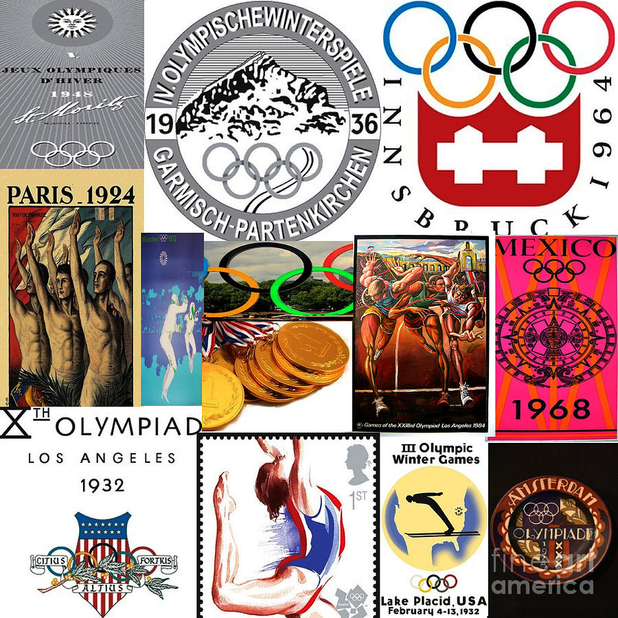 Olympic Memories Mixed Media  - Olympic Memories Fine Art Print
