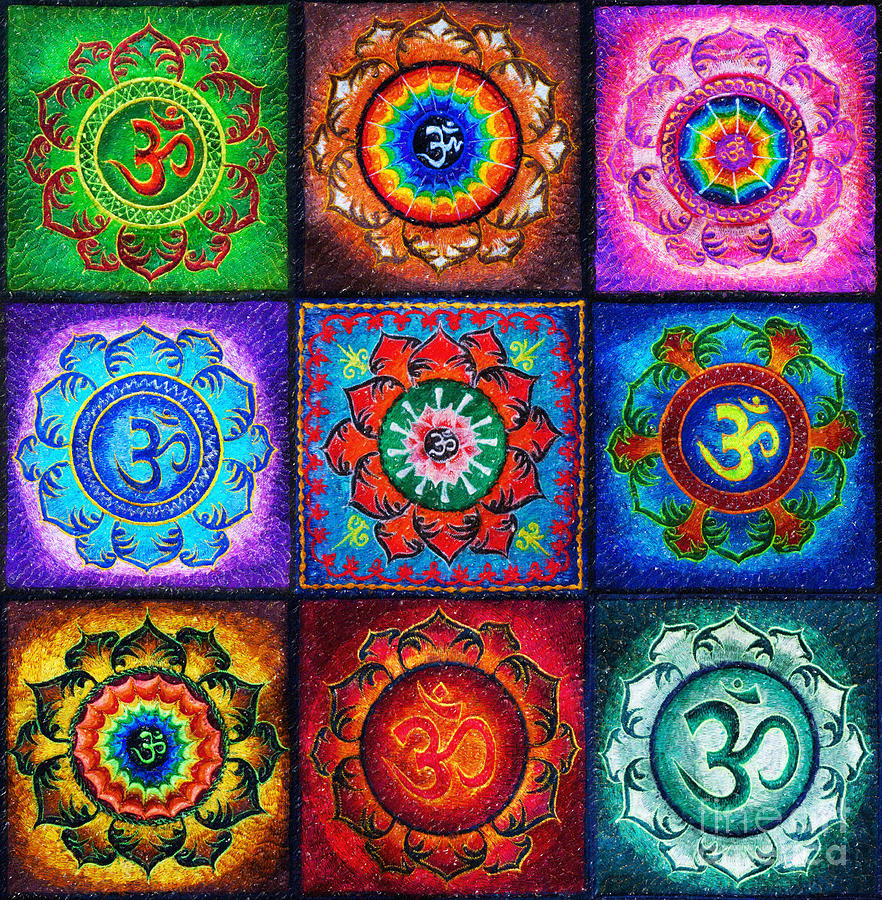 Om Squared Digital Art
