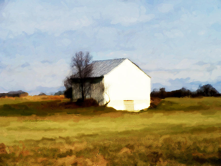 On Hwy B Near Ogdensburg.  Digital Art  - On Hwy B Near Ogdensburg.  Fine Art Print