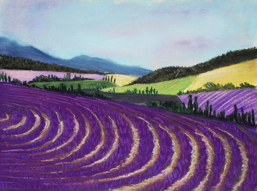 On Lavender Trail Painting