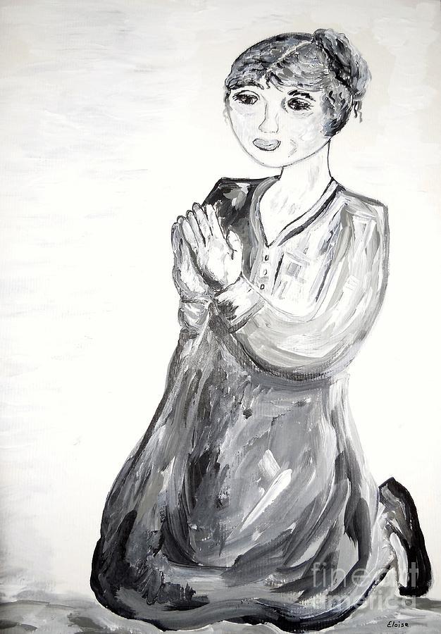 On My Knees Painting