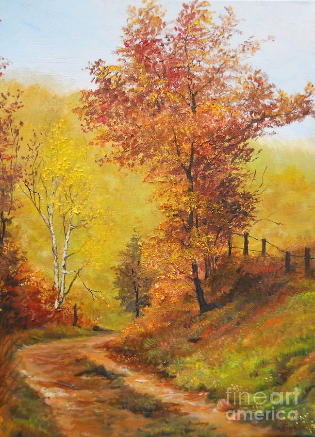 On My Way Home Painting  - On My Way Home Fine Art Print