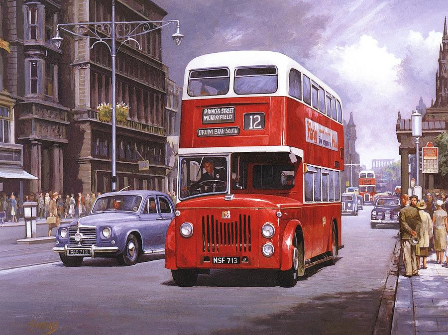 Edingburgh Painting - On The Golden Mile by Mike  Jeffries