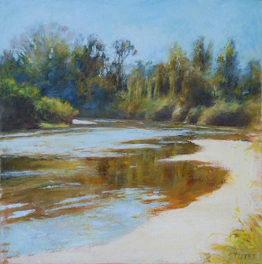 On The River Pastel  - On The River Fine Art Print