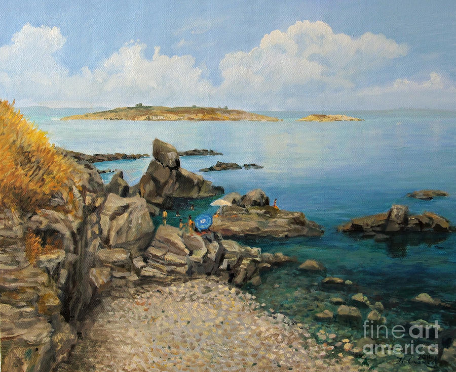 On The Rocks In The Old Part Of Sozopol Painting  - On The Rocks In The Old Part Of Sozopol Fine Art Print