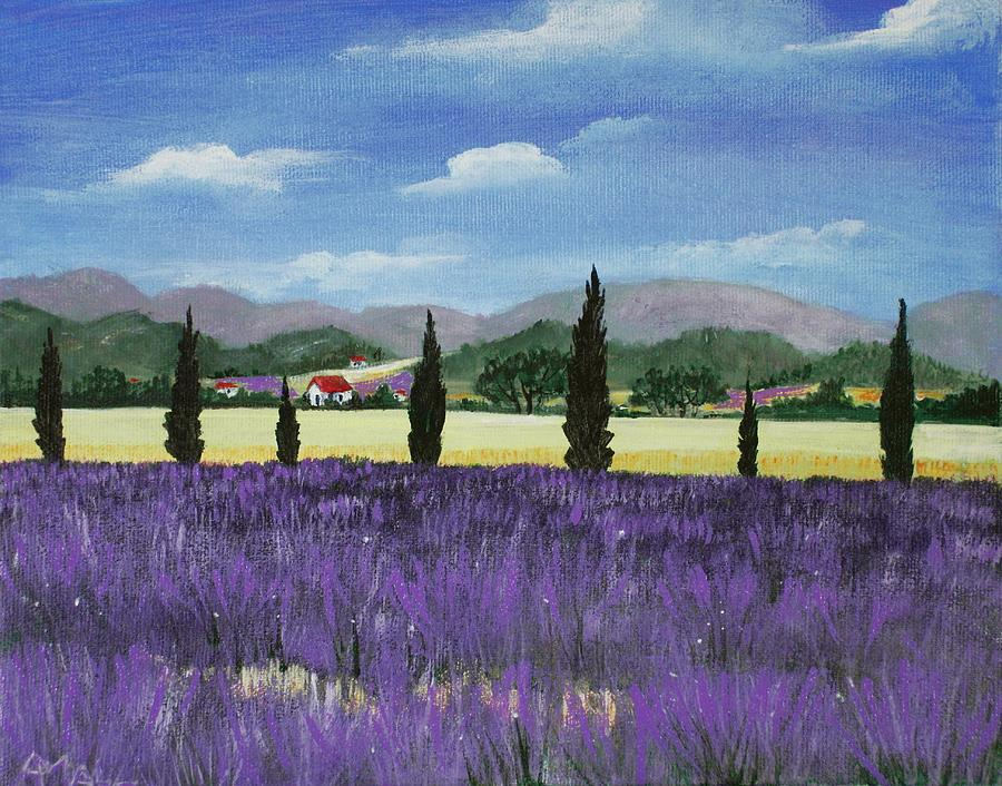 On The Way To Roussillon Painting