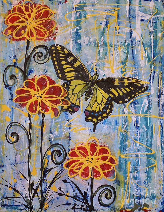 Nectar Painting - On The Wings Of A Dream by Jane Chesnut