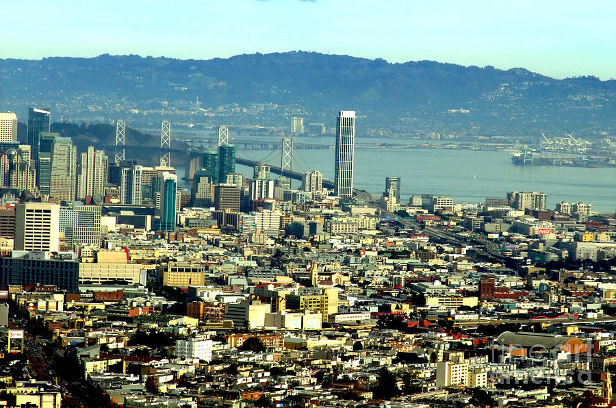 On Twin Peaks Over Looking The City By The Bay Photograph