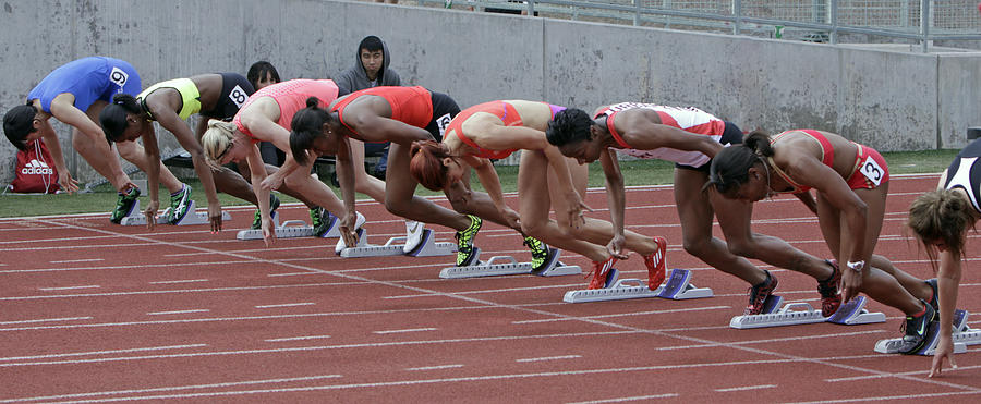 Starting Blocks Photograph - On Your Marks by Shoal Hollingsworth