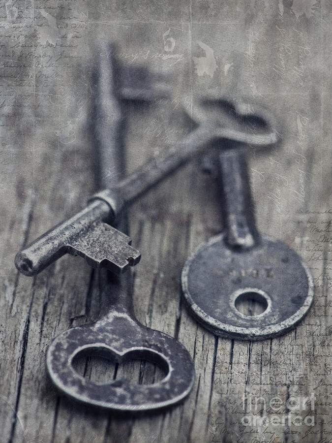Keys Photograph - Once Upon A Time There Was A Lock by Priska Wettstein