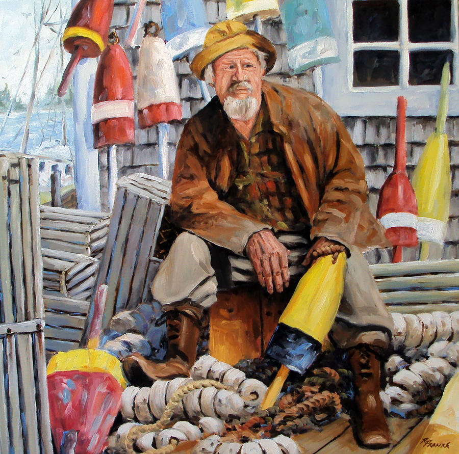Marin Painting - Once Upon A Time We Were Mariners by Richard T Pranke